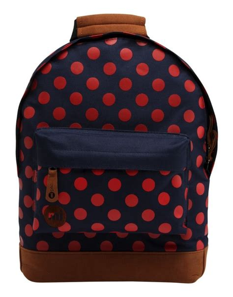 Ransel Polka Mini by купить рюкзак Mi Pac Mini All Polka Navy Bright 740406