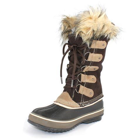 sorel snow boots sorel joan of arctic shearling lined snow boot