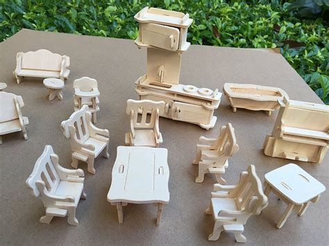 1 24 scale dolls house furniture dollhouse miniature furniture diy kit wood house toy 1 24 scale wood doll house ebay