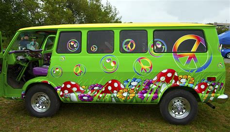Hippie Curtains Hippie Van Photograph By Glenn Gordon