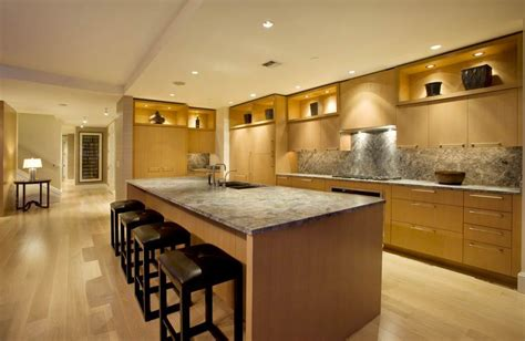 contemporary kitchen lights seattle penthouse with panoramic views to die for
