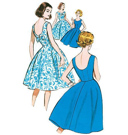 pattern for vintage dress retro dress pattern butterick b5748 1960 vintage style
