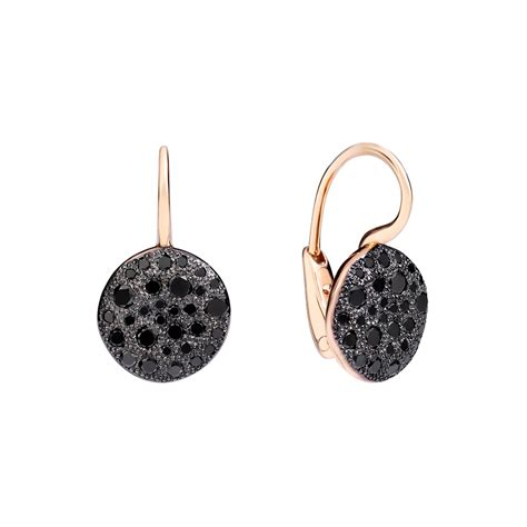 pomellato earrings pomellato black quot sabbia quot drop earrings betteridge