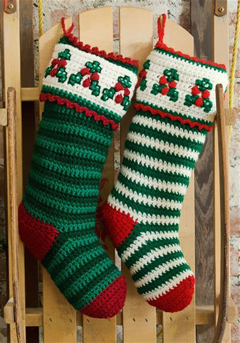 crochet pattern xmas stocking 40 all free crochet christmas stocking patterns patterns hub