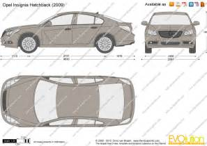 Opel Insignia Dimensions The Blueprints Vector Drawing Opel Insignia Hatchback