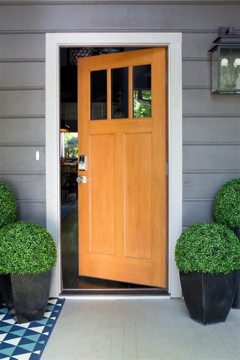 Front Door Sweepstakes Stylish Entryway With A Custom Craftsman Door The Front Porch Offers Easy Access To The Great