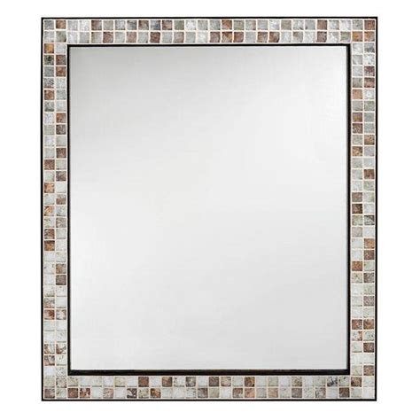 home decorators mirror home decorators collection briscoe 32 5 in l x 27 75 in w wall mirror in espresso brown
