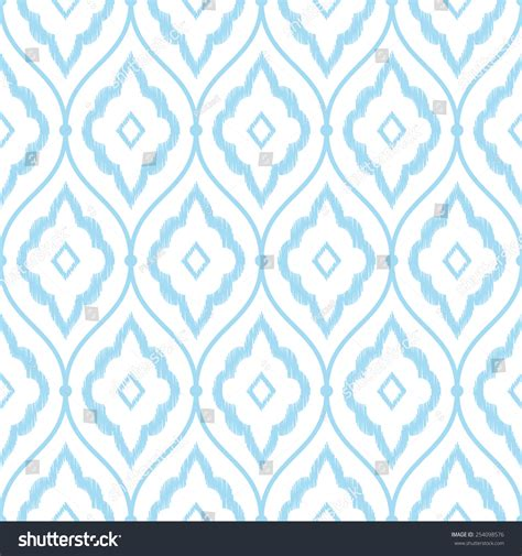 persian pattern vector seamless blue vintage persian ikat pattern stock vector