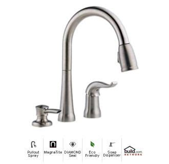 delta kate kitchen faucet faucet 16970 sssd dst in brilliance stainless by delta