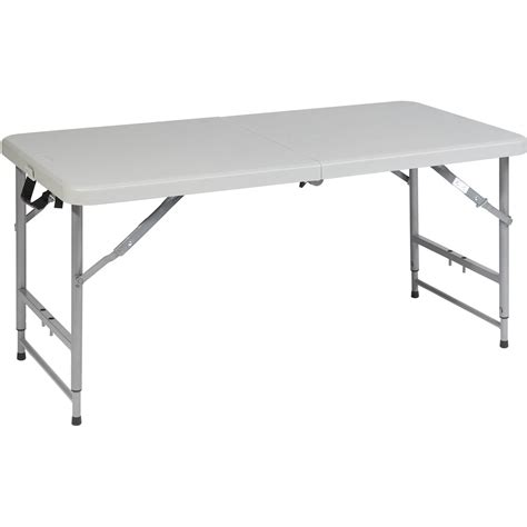 Folding Table Adjustable Height Flash Furniture 24 W X 48 L Height Adjustable Granite White Plastic Folding Table Walmart