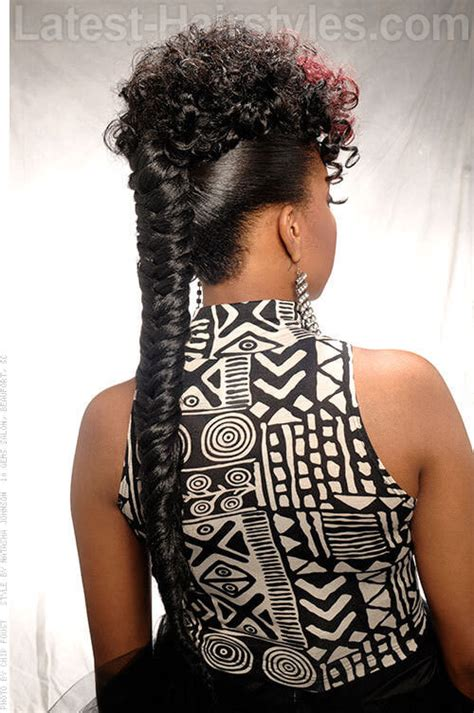 mohawk styles with a long weave updo funky fishtail