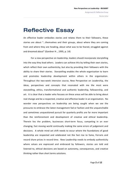 Sle Essay On Leadership research paper topice leadership 28 images sle
