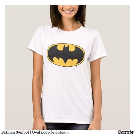 batman symbol oval logo  shirt zazzlecom