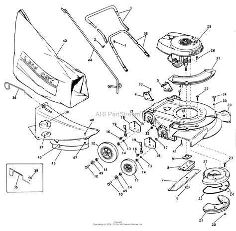lawn mower part diagram lawn mower parts at jacks jacks small engines