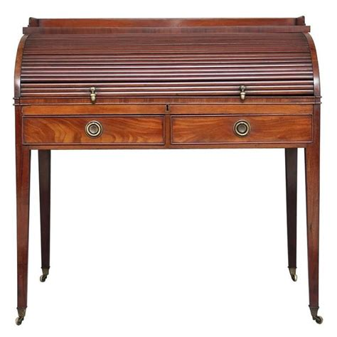 Writing Desk Roll Top by 19th Century Regency Mahogany Roll Top Writing Desk For