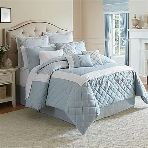 light blue bed set winslet comforter set in blue bed bath beyond