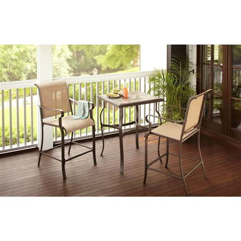 high patio dining sets hton bay belleville 3 high patio dining set