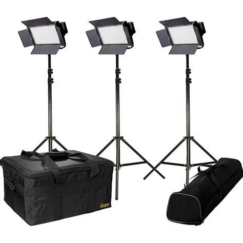 3 point lighting kit ikan ifb576 bi color 3 point led light kit ifb576 kit b h