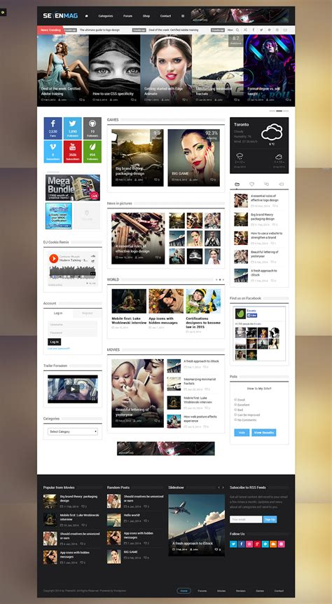 website designs for publication websites gaming magazine website template free psd at