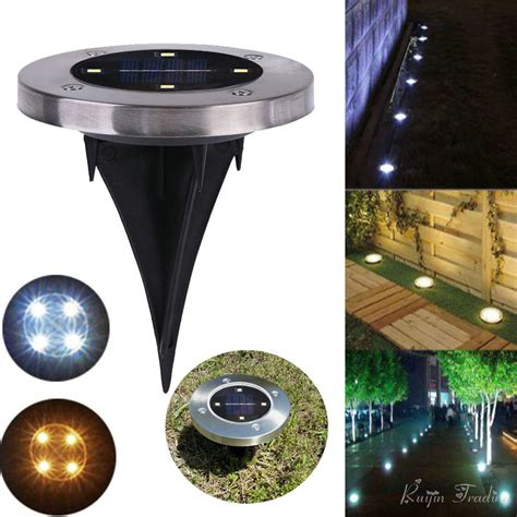 4 Led Solar Light Outdoor Ground Water Resistant Path In Ground Solar Path Lights