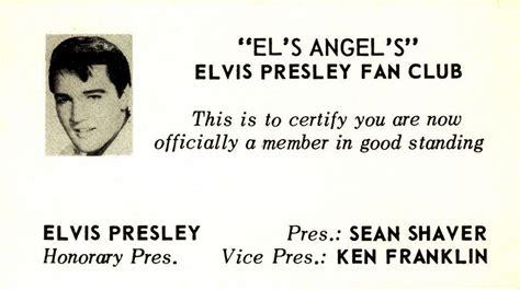 elvis fan club fan relations about elvis fan clubs fan club cards of early r r stars part 1 elvis presley