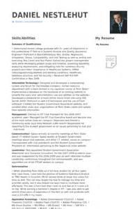 quality assurance engineer resume sles visualcv