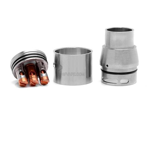 Rda Doge V2 22mm Harga doge v2 style rda rebuildable atomizer silver stainless steel 22mm diameter 3fvape