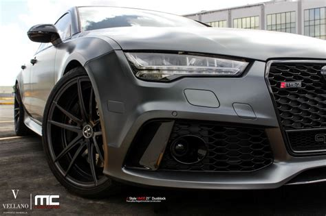 Matte Grey Audi Rs7 by Matte Grey Audi Rs7 With 21 Inch Vellano Vm35 Wheels Dpccars