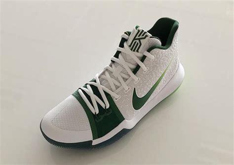 basketball shoes boston look at the nike kyrie 3 pe boston celtics housakicks