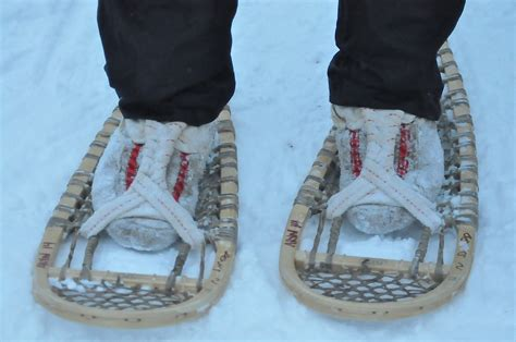 snow shoes a up look traditional snowshoes in inuvik