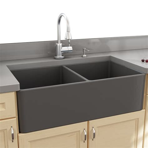 Kitchen With Apron Sink Nantucket Sinks Cape 33 25 Quot X 18 Quot Bowl Apron Kitchen Sink Reviews Wayfair