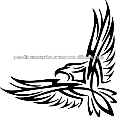 eagle tattoo tribal art black tribal eagle tattoo stencil
