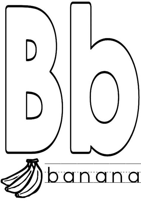 Capital B Coloring Page by Capital And Small Letter B Coloring Page Capital And