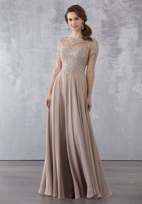 chiffon special occasion dress  beaded lace appliques