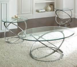 Glass Coffee Table Set Coffee Table Silver Coffee Tables Steve Silver Oval Chrome And Glass Coffee Table Set