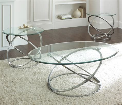 Glass Coffee Table Set Steve Silver Oval Chrome And Glass Coffee Table Set Silver Glass Coffee Table Sets Ppinet