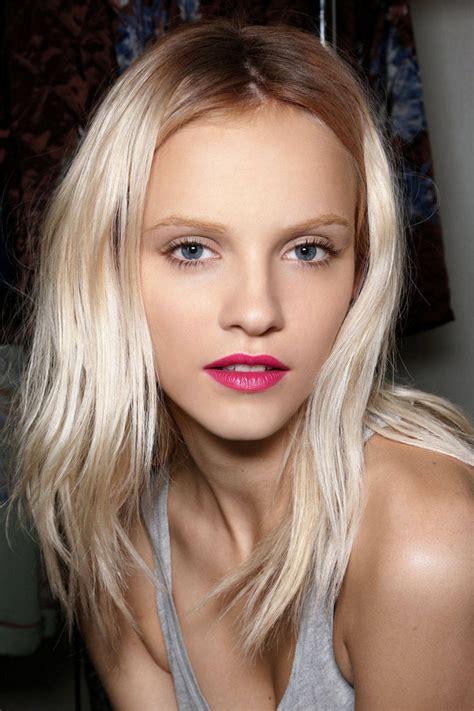 platinum blonde thebestfashionblog com inspiration berry lips pinterest inspired spring makeup