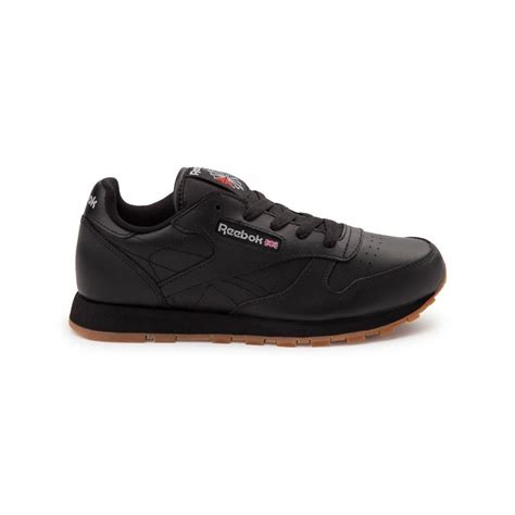 youth athletic shoes youth reebok classic athletic shoe black 1480820