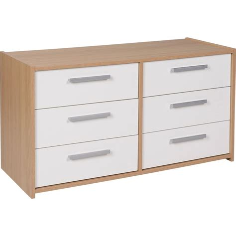 white gloss and oak bedroom furniture buy home new sywell 3 3 drawer chest oak effect white