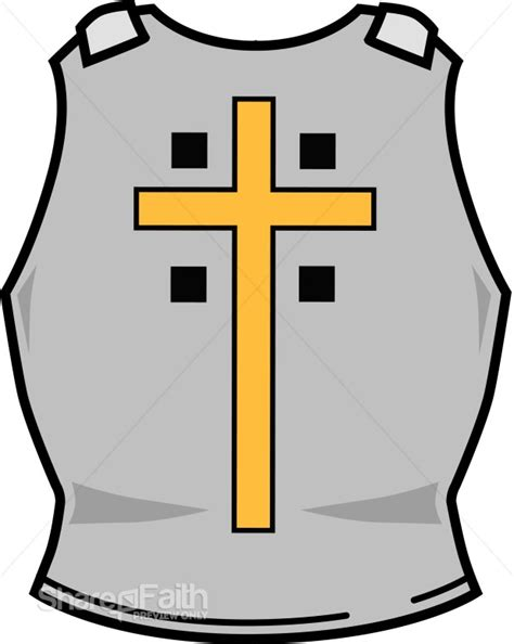 breastplate of righteousness template breastplate of righteousness with cross spiritual warfare