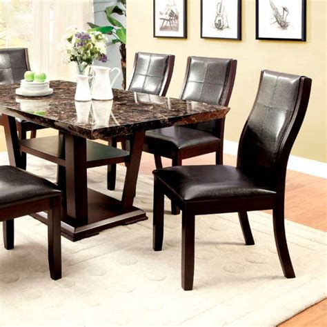 faux marble dining table faux marble top dining table fa933 transitional dining
