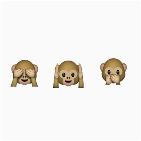 emoji monkey tattoo hear no evil speak no evil see no evil emoji by emilysstickers