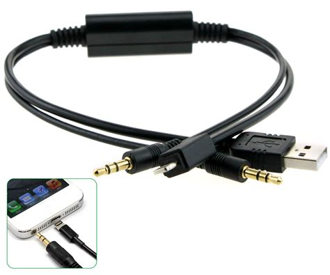bmw lightning cable lightning y cable usb to aux lead cable for bmw mini