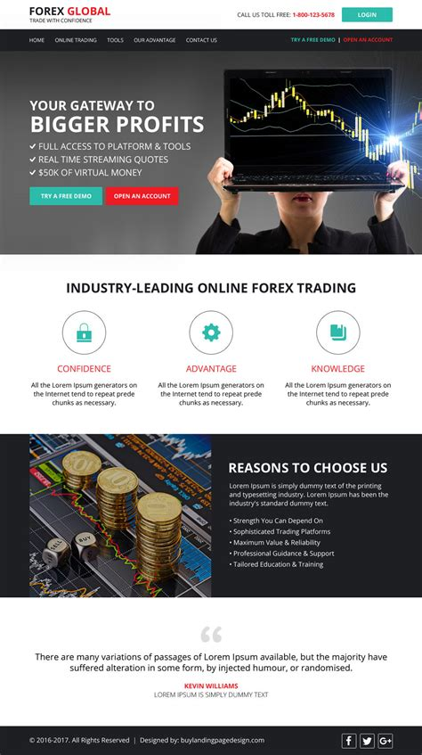 forex landing page template forex trading resp website templates 01 forex trading