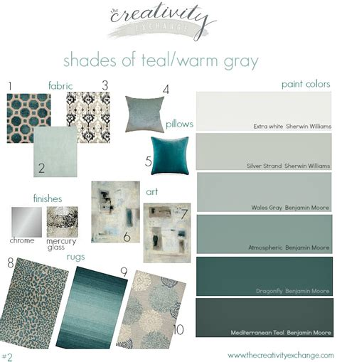 colors that work with gray shades of teal and warm gray moody monday 2