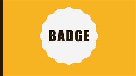 badge buddy template powerpoint