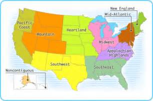 us regions map map of us geographic regions
