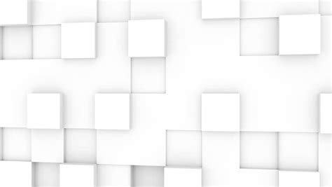 kaos 3d square white white geometric cubes loopable abstract motion background