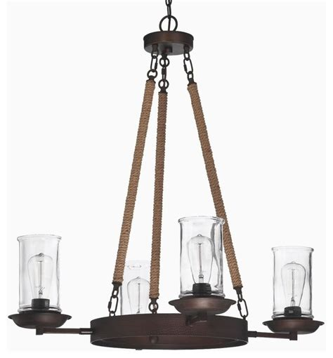 Hurricane Chandelier Medium Rope And Clear Glass Hurricane Chandelier Chandeliers By Shades Of Light