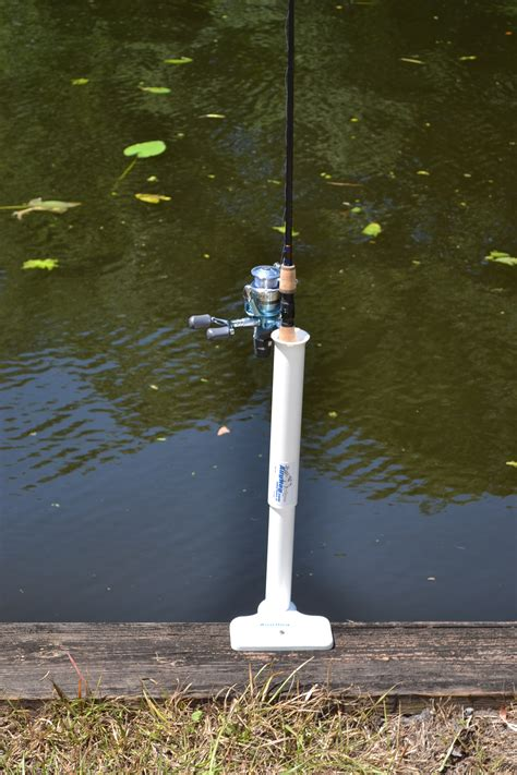boat dock rod holders dock pal flip in dock fishing rod holder aughog products